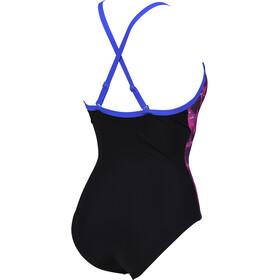 arena Lise Light Cross Back Swimsuit Women black multi/black/bright blue